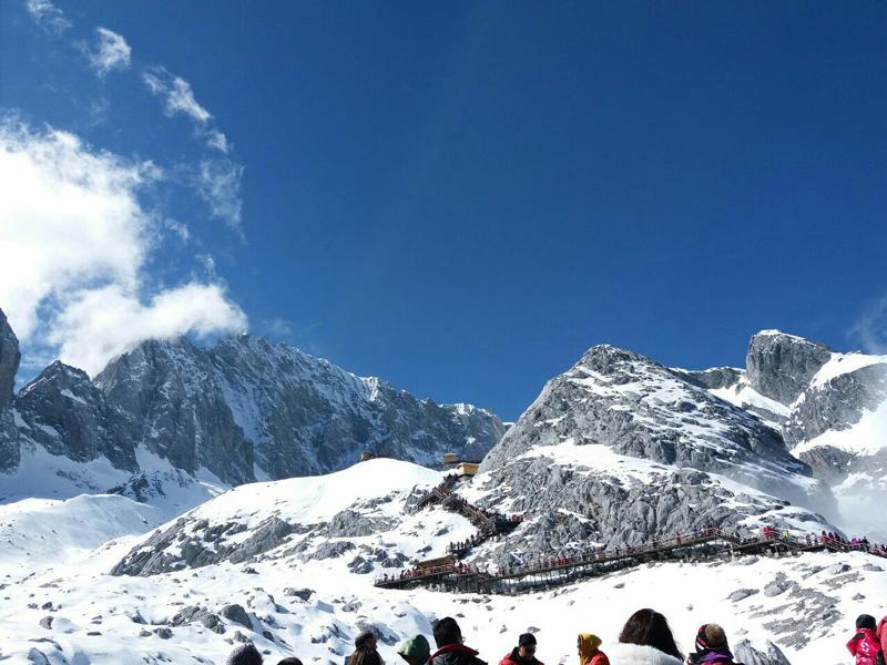 麗江玉龍雪山景區,美麗的自然景觀,呈現不一樣的雪山美景