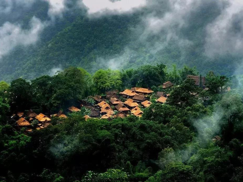 中國最后的原始部落,云南臨滄的翁丁佤寨,神秘崇拜的祭祀古文化