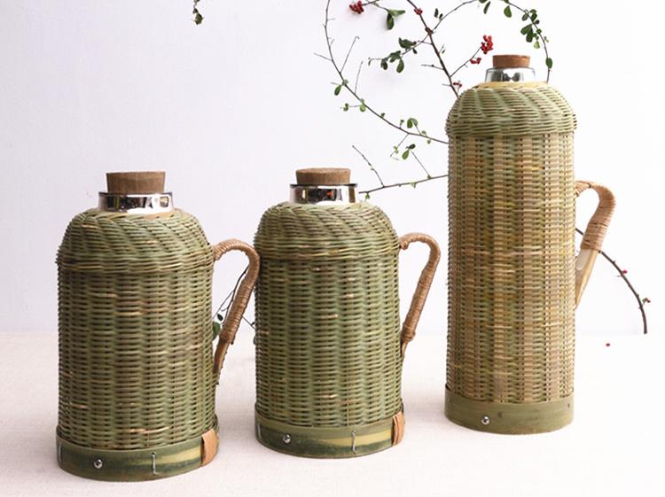 竹编暖水壶