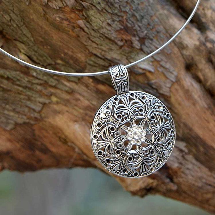 復古銀飾品項鏈