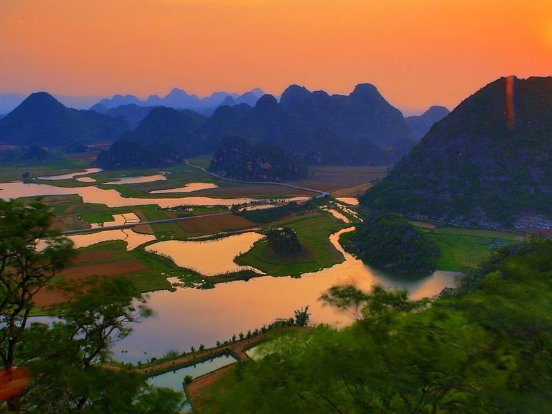 看田园风光,欣赏普者黑的美景,在文山感受不一样的美丽