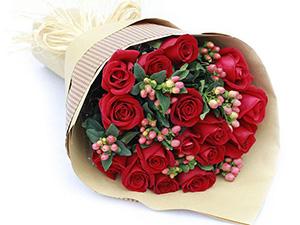 19朵香槟玫瑰鲜花礼盒天津鲜花速递同城生日鲜花店女朋友送花上门