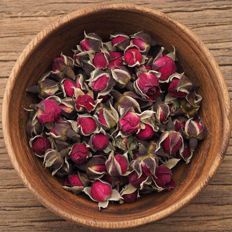 玫瑰花茶金边玫瑰花茶云南野生新鲜无硫特级干玫瑰花蕾